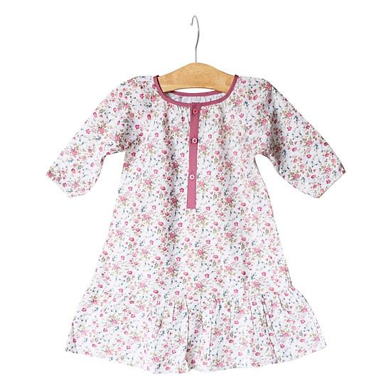 Đầm Đuôi Cá Họa Tiết Hoa Nhí Cuckeo Kids HC757 - Trắng