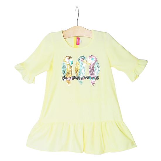 Đầm Đuôi Cá Họa Tiết Con Vẹt Cuckeo Kids HC752 - Vàng