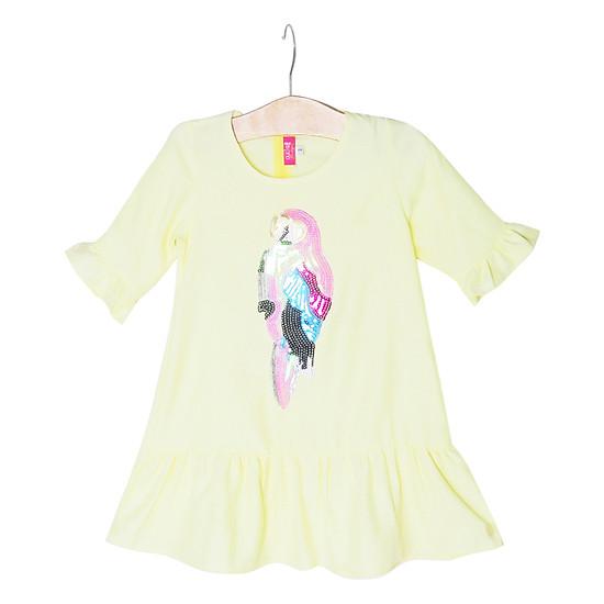 Đầm Đuôi Cá Họa Tiết Con Vẹt Cuckeo Kids HC751 - Vàng