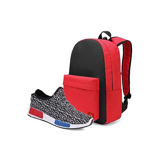 Combo Balo Classical BLL004BA + Giày Sneaker Thể Thao Nam GS048WH Glado CB082WH