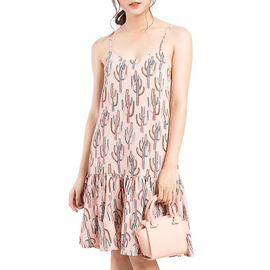 Váy Họa Tiết Hai Dây Gracy Design VTH001 - Be