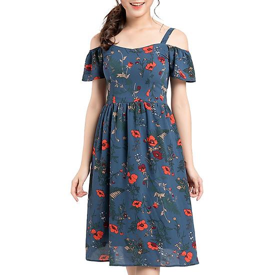 Váy Hoa Hai Dây Gracy Design VHHD0004 - Hoa Tím