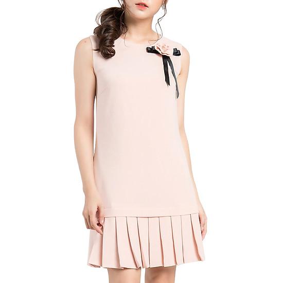 Váy Xếp Ly Đính Hoa Rời Gracy Design VXLDHR - Hồng