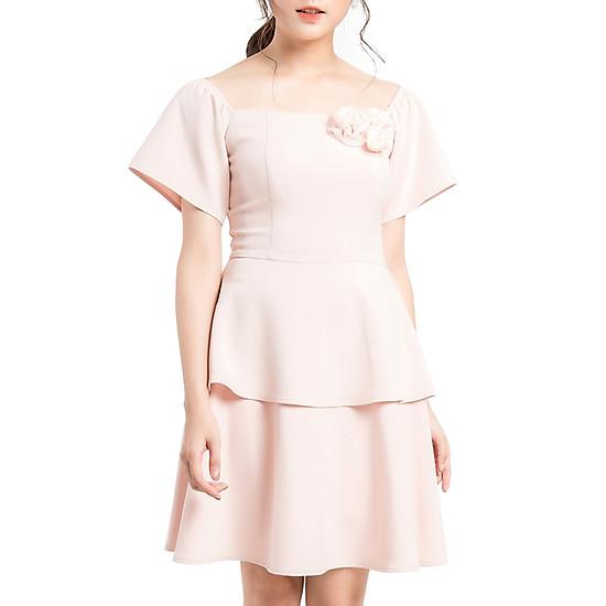 Váy Xòe Đính Hoa Rời Gracy Design VXDHR0009 - Hồng