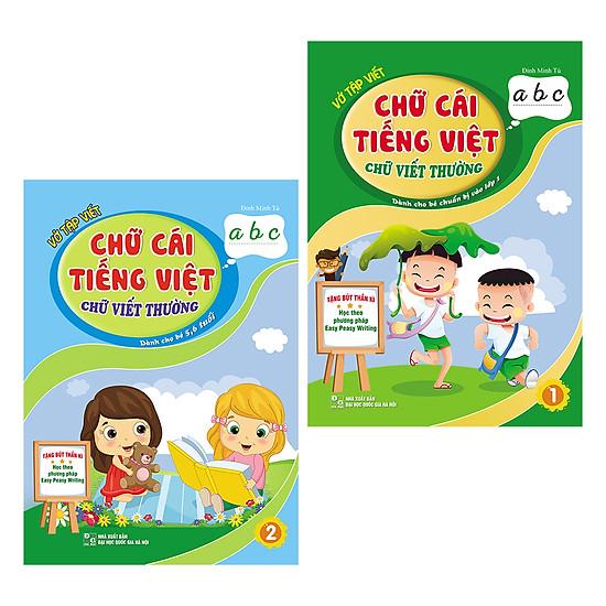 Vở Tập Viết Chữ Cái Tiếng Việt - Chữ Viết Thường - Dành Cho Bé Chuẩn Bị Vào Lớp 1 (Trọn Bộ 2 Cuốn)