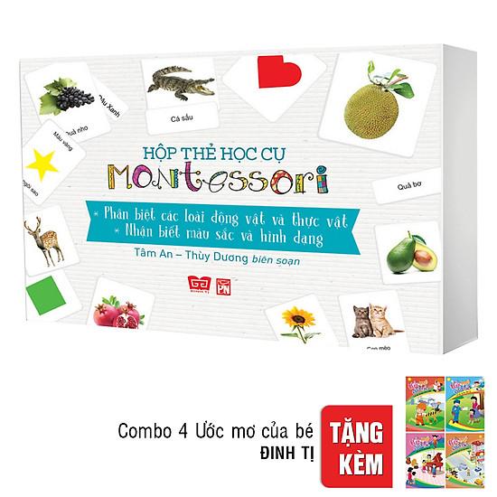 [Download Sách] Hộp Thẻ Học Cụ Montessori: Khám Phá Thế Giới Tự Nhiên - Nhận Biết Màu Sắc Và Hình Dạng (Tặng Combo 4 Cuốn Ước Mơ Của Bé )