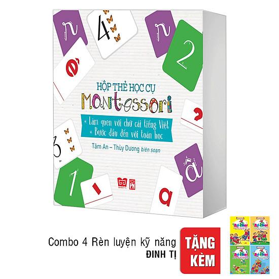 [Download Sách] Hộp Thẻ Học Cụ Montessori: Làm Quen Với Chữ Cái Tiếng Việt - Bước Đầu Đến Với Toán Học ( Tặng Combo 4 Cuốn Trò Chơi Rèn Luyện Kỹ Năng)