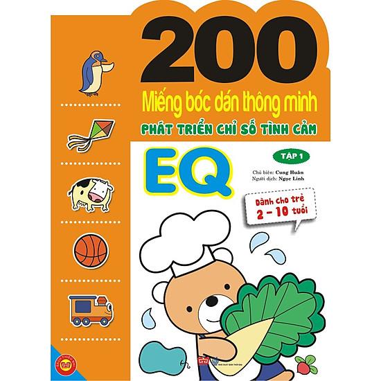 200 Miếng Bóc Dán Thông Minh Phát Triển Chỉ Số Tình Cảm EQ Tập 1 (Dành Cho Trẻ 2-10 Tuổi)
