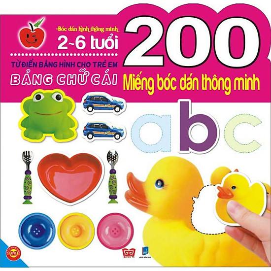 200 Miếng Bóc Dán Thông Minh- Bảng Chữ Cái
