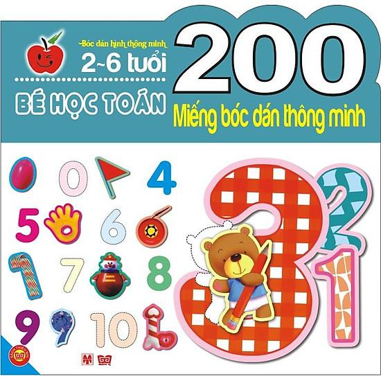 200 Miếng Bóc Dán Thông Minh – Bé Học Toán (2-6 Tuổi)