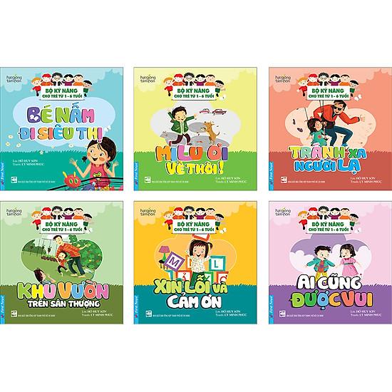 Bộ Kỹ Năng Cho Trẻ Từ 1- 6 Tuổi (Trọn Bộ 6 Quyển)