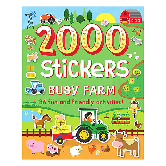 2000 Stickers Busy Farm