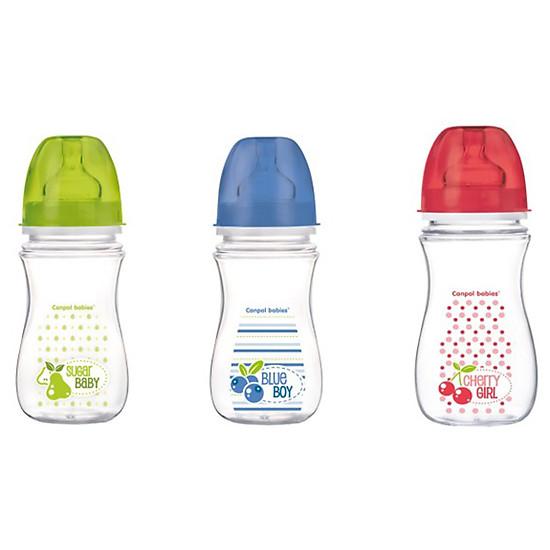 Bình Nhựa Cổ Rộng Họa Tiết Trái Cây Canpol Babies Easy Start 35/211 (300ml)