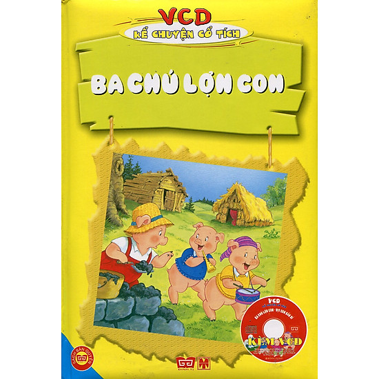 VCD Kể Chuyện Cổ Tích – Ba Chú Lợn Con (Sách Màu)