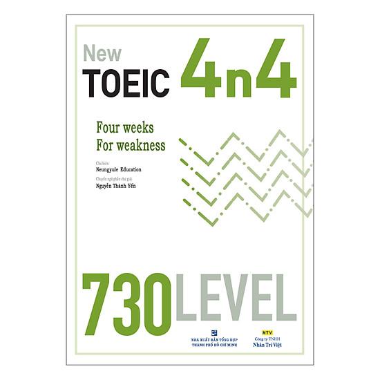 Hình ảnh download sách New TOEIC 4n4 - 730 Level (Kèm CD)