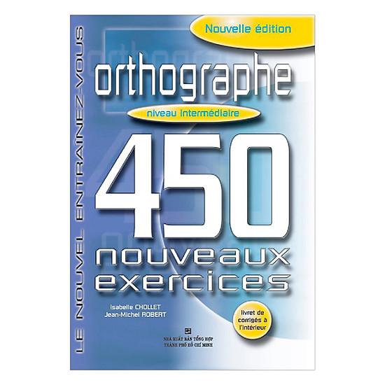 Hình ảnh download sách 450 Orthographe Niveau Intermédiare