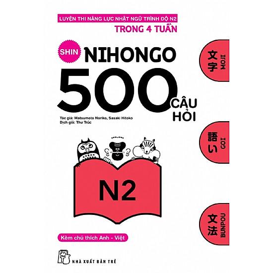 500 Câu Hỏi Luyện Thi Năng Lực Nhật Ngữ Trình Độ N2