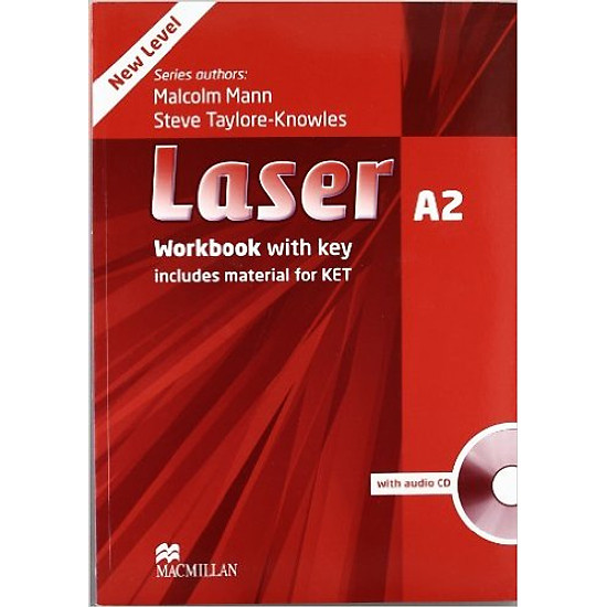Laser (3 Ed.) A2: Workbook With Key With CD – Paperback
