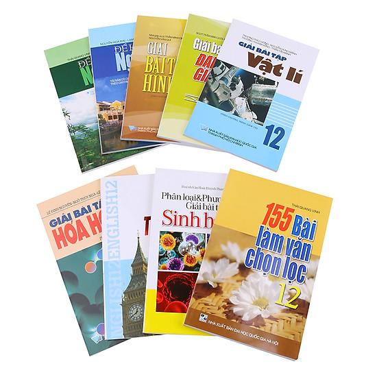Combo Sách Tham Khảo Dành Cho Học Sinh Lớp 12 (Trọn Bộ 8 Cuốn) - Tặng Kèm Giải Bài Tập Sinh Học Lớp 12