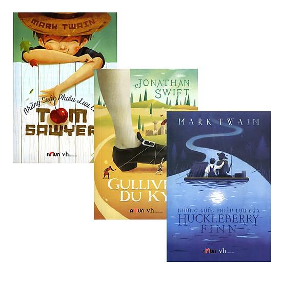 [Download Sách] Combo Gulliver Du Ký + Những Cuộc Phiêu Lưu Của Huckleberry Finn + Những Cuộc Phiêu Lưu Của Tom Sawyer (Trọn Bộ 3 Cuốn)