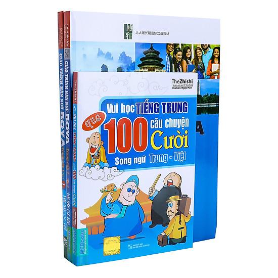 Combo Trọn Bộ Giáo Trình Hán Ngữ Boya Trung Cấp 1 – 2 (Tặng Kèm Sách 100 Truyện Cười Song Ngữ Trung – Việt)