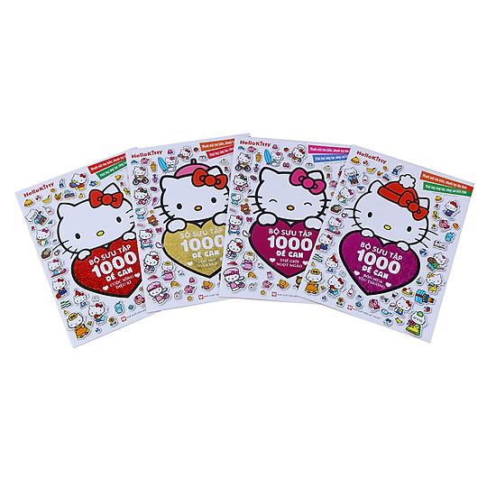 [Download Sách] Combo Hello Kitty - Bộ Sưu Tập 1000 Đề Can (Bộ 4 Quyển)
