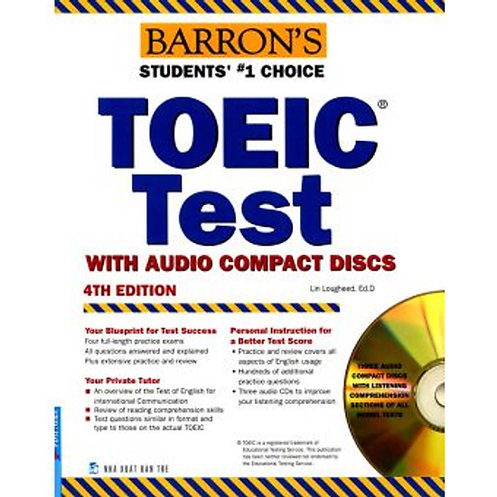 Barron's Toeic Test + 3CD (4th Edition) (Tái Bản)