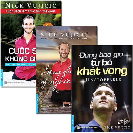 Combo Nick Vujicic (3 Quyển – Tặng Kèm CD)