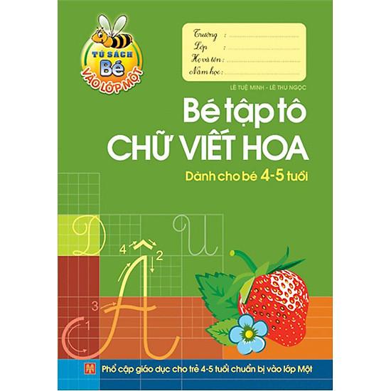 Bé Tập Tô Chữ Viết Hoa Dành Cho Bé 4-5 Tuổi