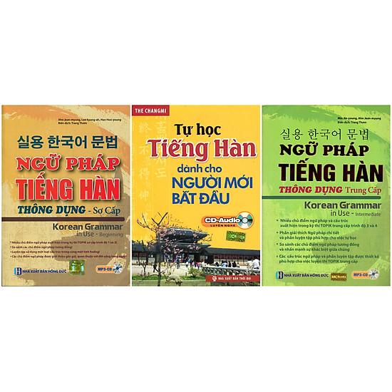 Combo Trọn Bộ Ngữ Pháp Tiếng Hàn Thông Dụng Sơ – Trung Cấp (Tặng Sách Tự Học Tiếng Hàn Cho Người Mới Bắt Đầu)