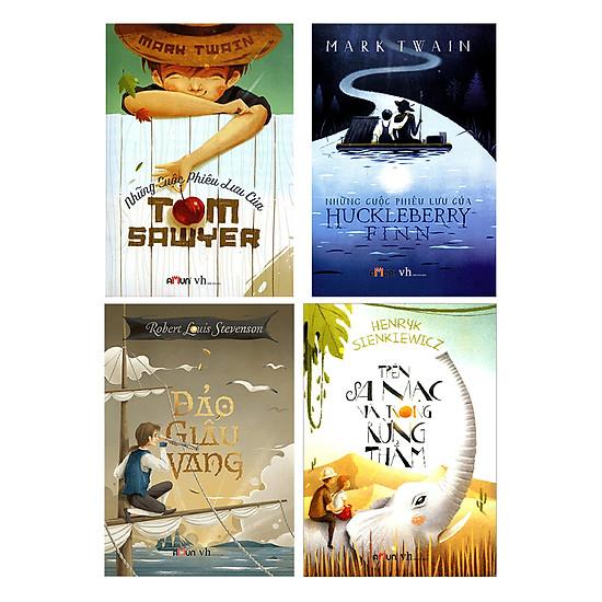 [Download Sách] Combo Những Cuộc Phiêu Lưu Của Huckleberry Finn - Những Cuộc Phiêu Lưu Của Tom Sawyer - Đảo Giấu Vàng - Trên Sa Mạc Và Trong Rừng Thẳm