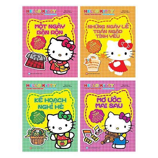 [Download Sách] Combo Hello Kitty - Dán Hình (Bộ 4 Quyển)