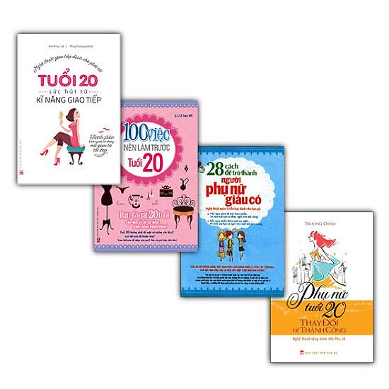 [Download Sách] Combo Bí Quyết Thành Công Dành Cho Phụ Nữ Tuổi 20 (Trọn Bộ 4 Cuốn)