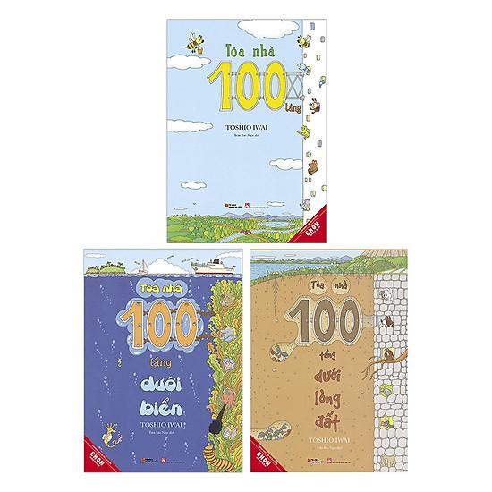 Combo Ehon Nhật Bản Tòa Nhà 100 Tầng: Dành Cho Trẻ Từ 3 - 8 Tuổi - Tặng Kèm Sách Người Mỹ Giúp Con Ham Đọc Sách