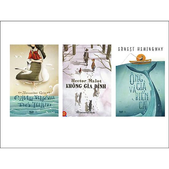 [Download Sách] Combo Ông Già Và Biển Cả + Không Gia Đình + Cánh Buồm Đỏ Thắm