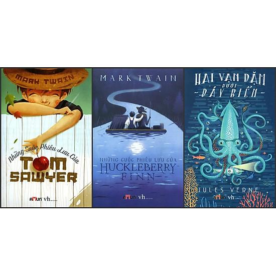 [Download Sách] Combo Những Cuộc Phiêu Lưu Của Tom Sawyer - Những Cuộc Phiêu Lưu Của Huckleberry Finn- Hai Vạn Dặm Dưới Đáy Biển (Đinh Tị Books)