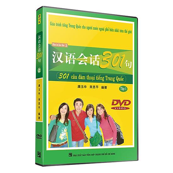 Download sách 301 Câu Đàm Thoại Tiếng Trung Quốc - Tập 1 ( Đĩa DVD)