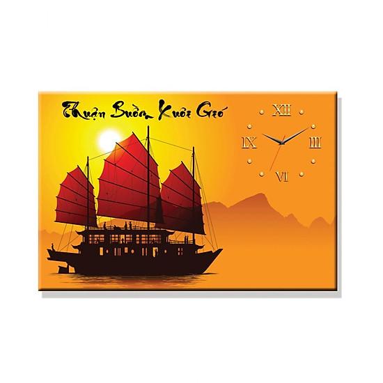 Tranh Đồng Hồ Dyvina 1T4060-4 - Thuận Buồm Xuôi Gió