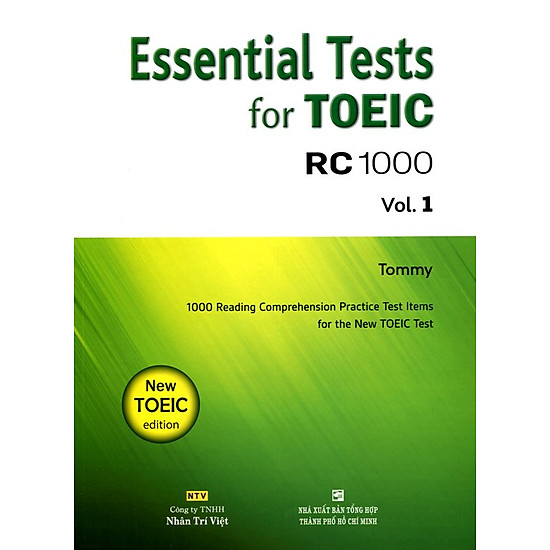 Download sách Essential Test For TOEIC RC 1000 Vol 1 (Không CD)