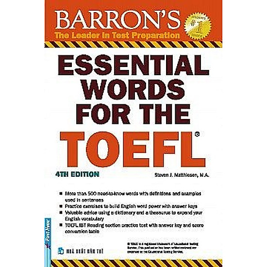 Essential Words For The TOEFL – 4th Edition (Tái Bản 2017)