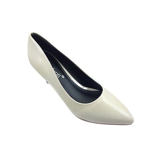 Giày Cao Gót 6cm Mũi Nhọn G Alanti G15-077-172-K - Kem