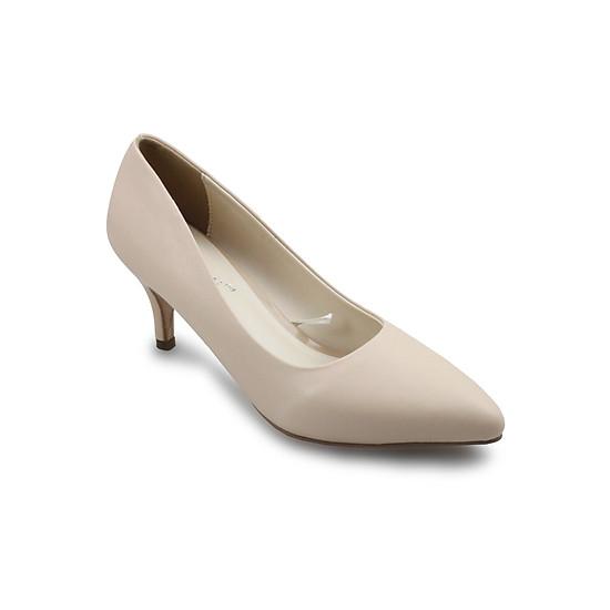 Giày Cao Gót 6cm Mũi Nhọn G Alanti G15-077-172-KM - Kem