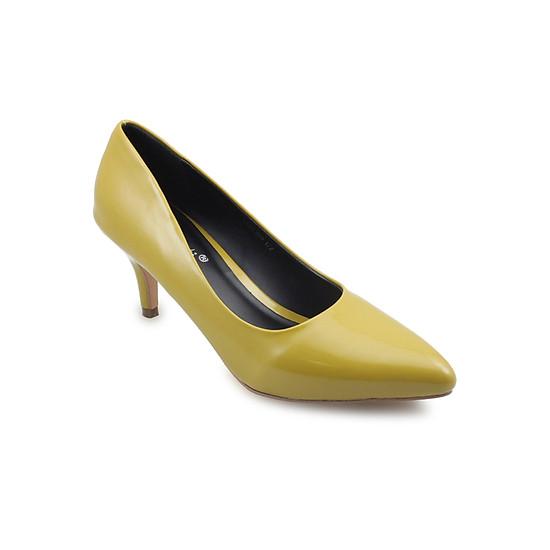 Giày Cao Gót 6cm Mũi Nhọn G Alanti G15-077-172-V - Vàng