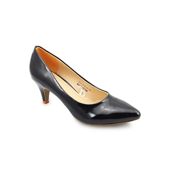 Giày Cao Gót 6cm Đính Nơ Nữ G Alanti G15-101-172-D - Đen