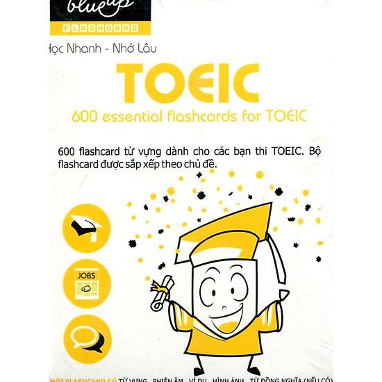 Hộp Blueup TOEIC 600 Essential Flashcards For Toeic - Tái Bản