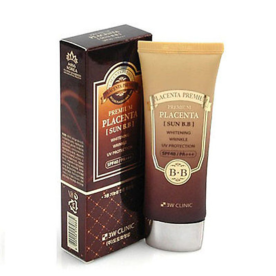 Kem Lót BB Cream SPF40/PA++ 3W Clinic Placenta Sun B.B (70ml)