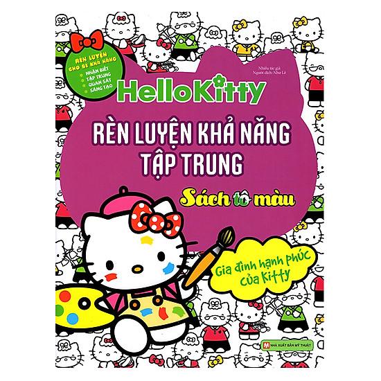 [Download Sách] Hello Kitty - Rèn Luyện Khả Năng Tập Trung (Tô Màu)