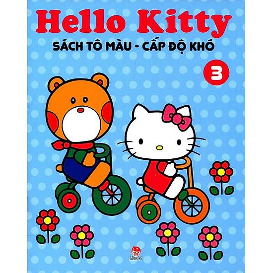 [Download Sách] Hello Kitty - Sách Tô Màu Cấp Độ Khó (Tập 3)