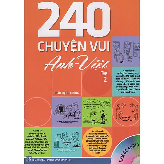[Download sách] 240 Chuyện Vui Anh - Việt (Tập 2) - Kèm CD