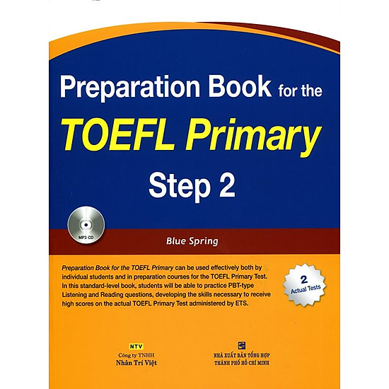 [Download Sách] Preparation Book For TOEFL Primary Step 2 (Kèm CD)